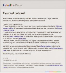 AdSense-account-approval-mail